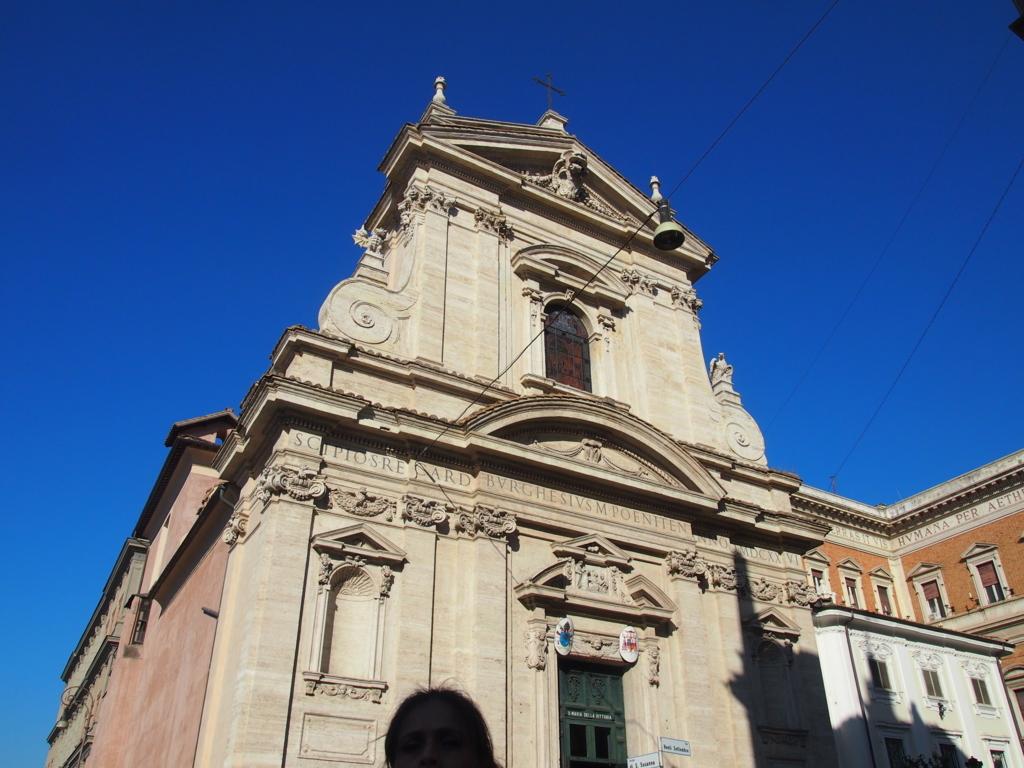ローマ-サンタマリアデラヴィットリア教会-外観