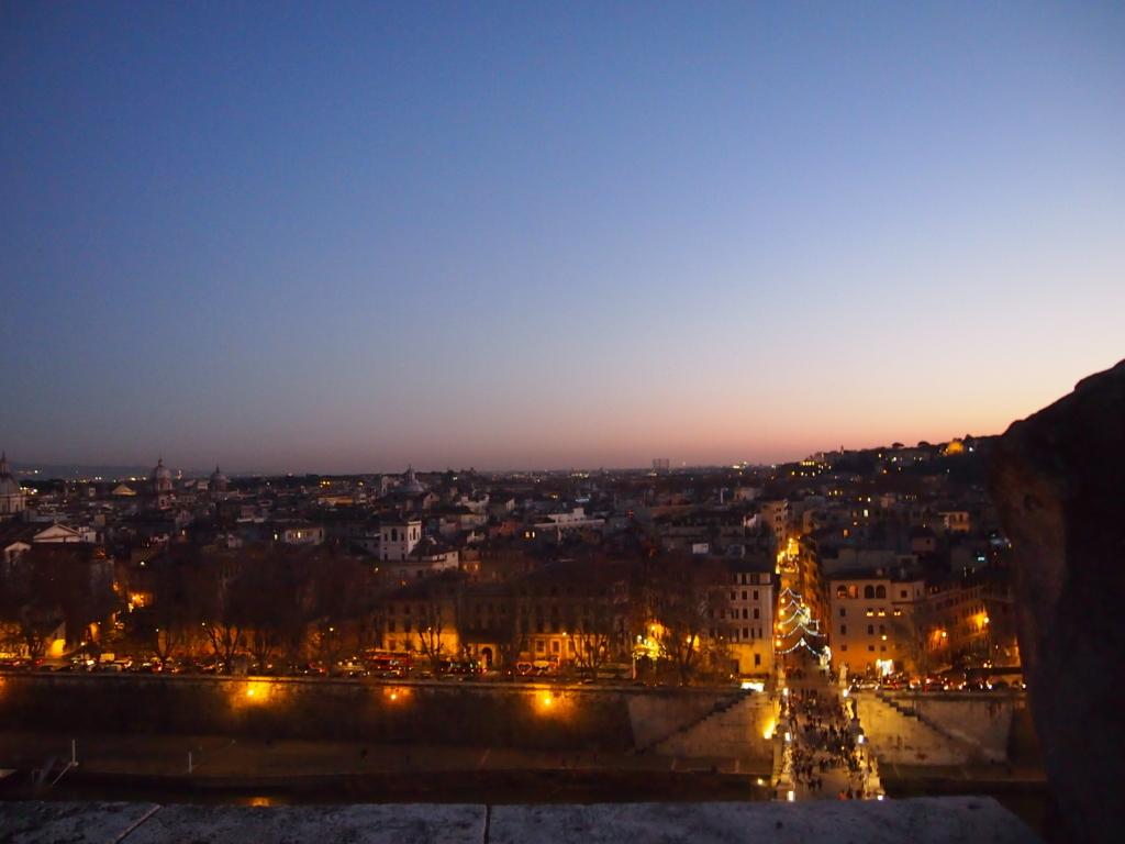 ローマ-サンタンジェロ城-景色