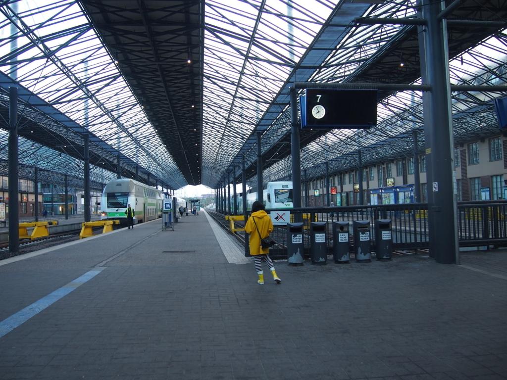 ヘルシンキ中央駅-ホーム