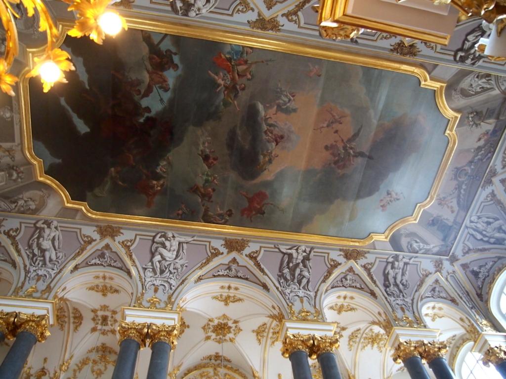 エルミタージュ美術館-天使の階段-天井画