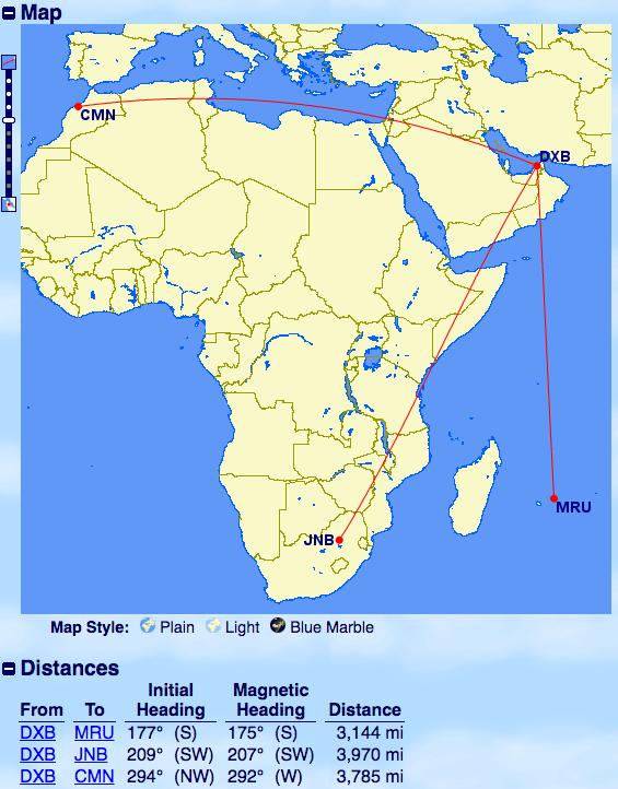 エミレーツ-A380運行-ドバイ-アフリカ