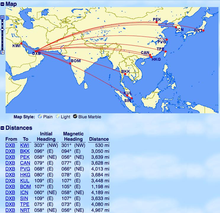 エミレーツ-A380運行-ドバイ-アジア中東