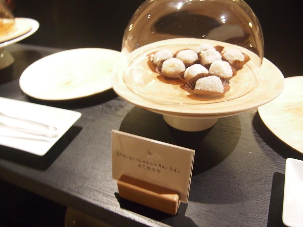 キャセイ-香港-ピアラウンジ-ティハウス-お菓子-rice
