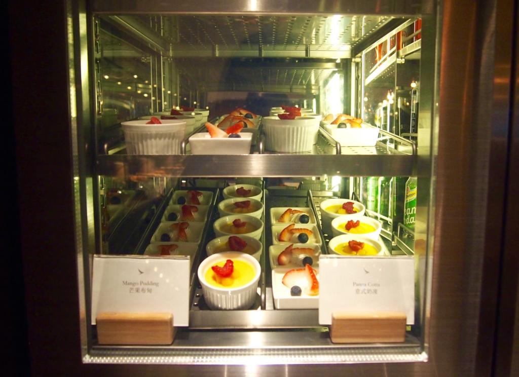 キャセイ-香港-ピアラウンジ-フードホール-ケーキ