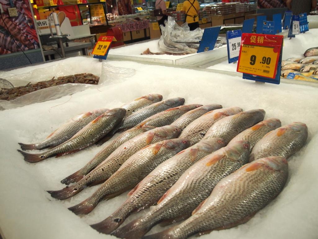 北京-スーパーマーケット-魚