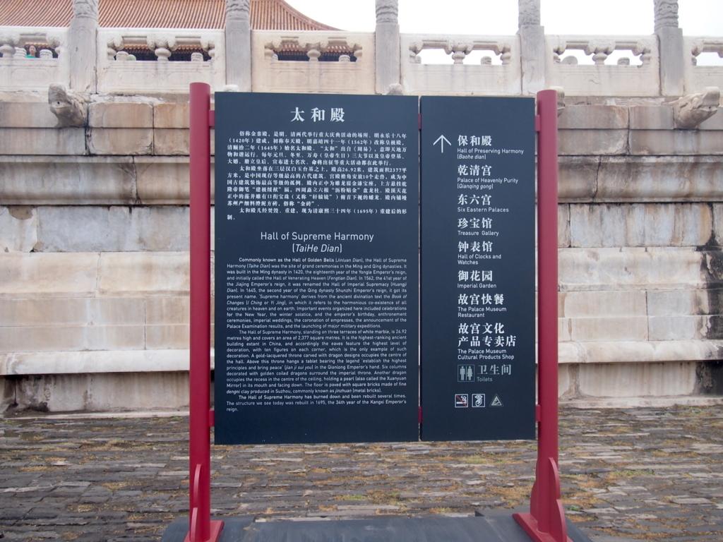 北京-故宮博物院-太和殿案内