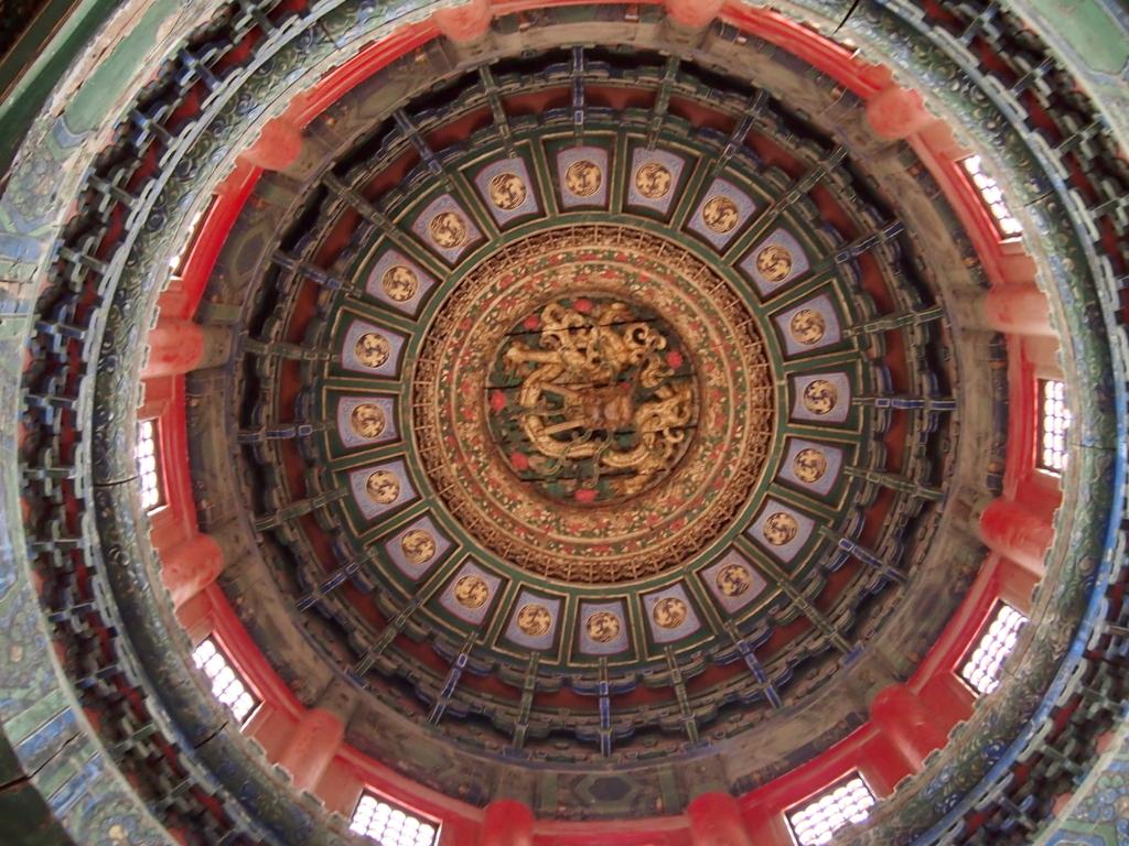 北京-故宮博物院-千秋亭-天井