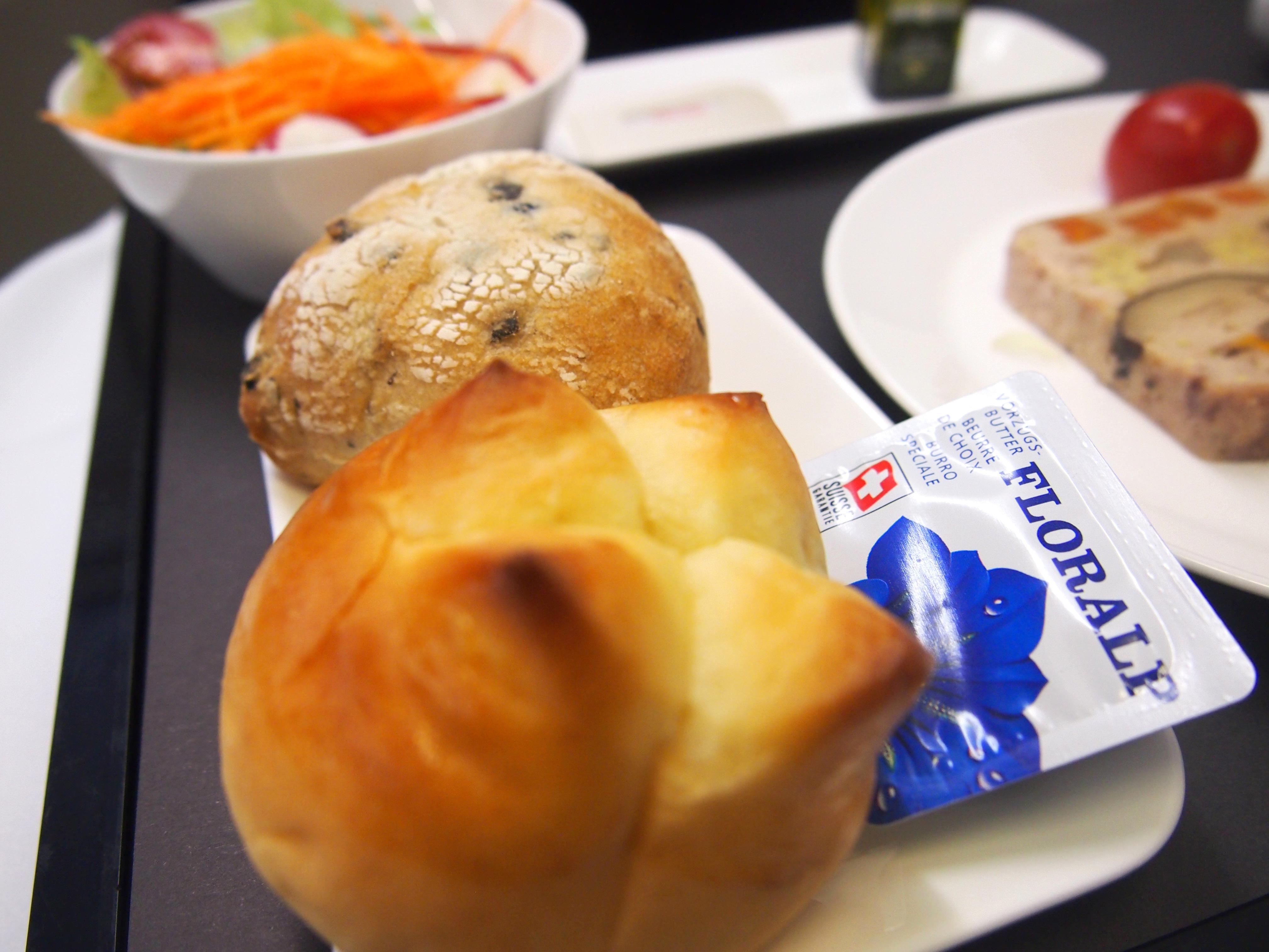 スイス航空-ビジネスクラス-パン