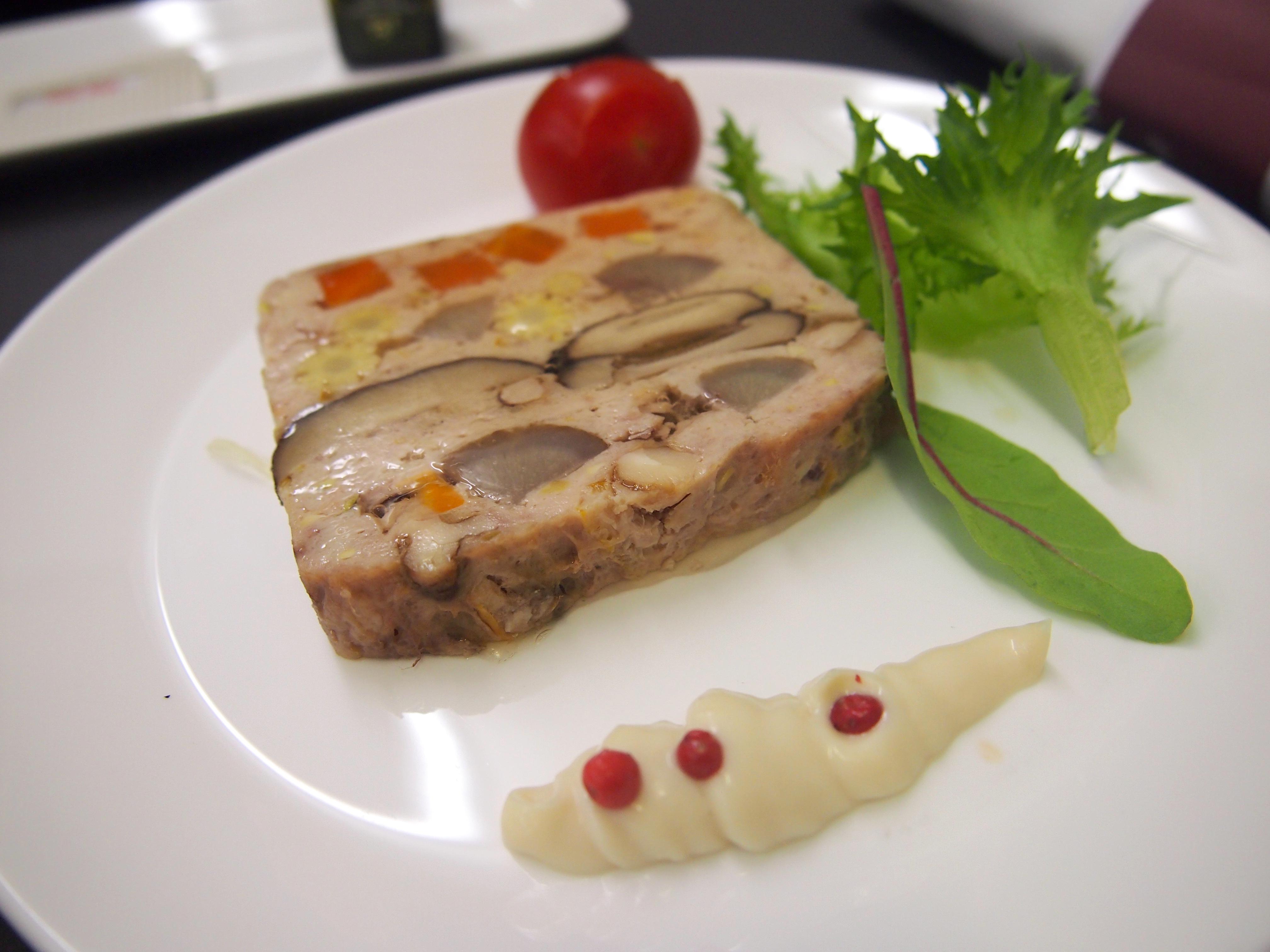 スイス航空-ビジネスクラス-機内食-前菜