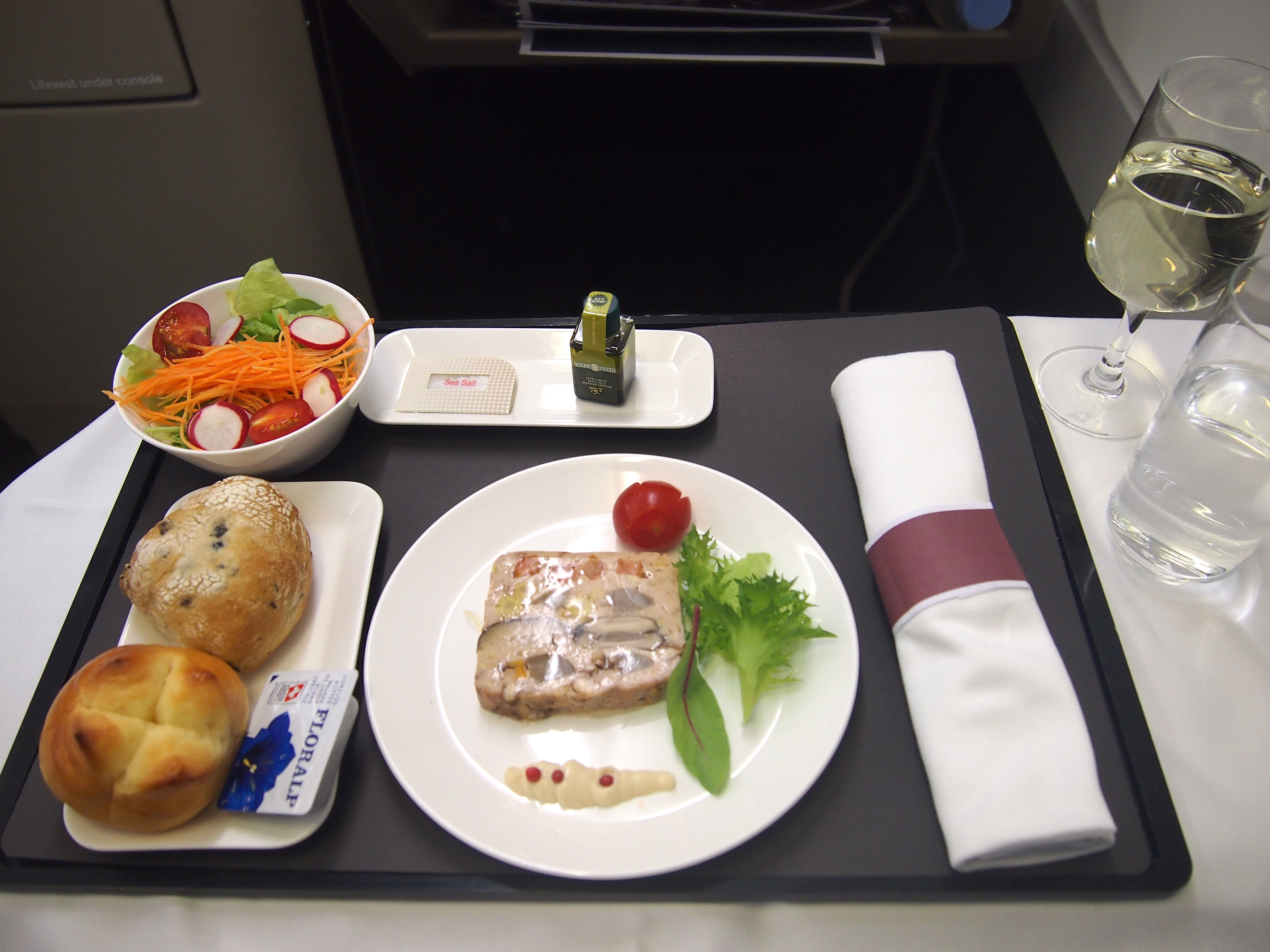 スイス航空-ビジネスクラス-機内食
