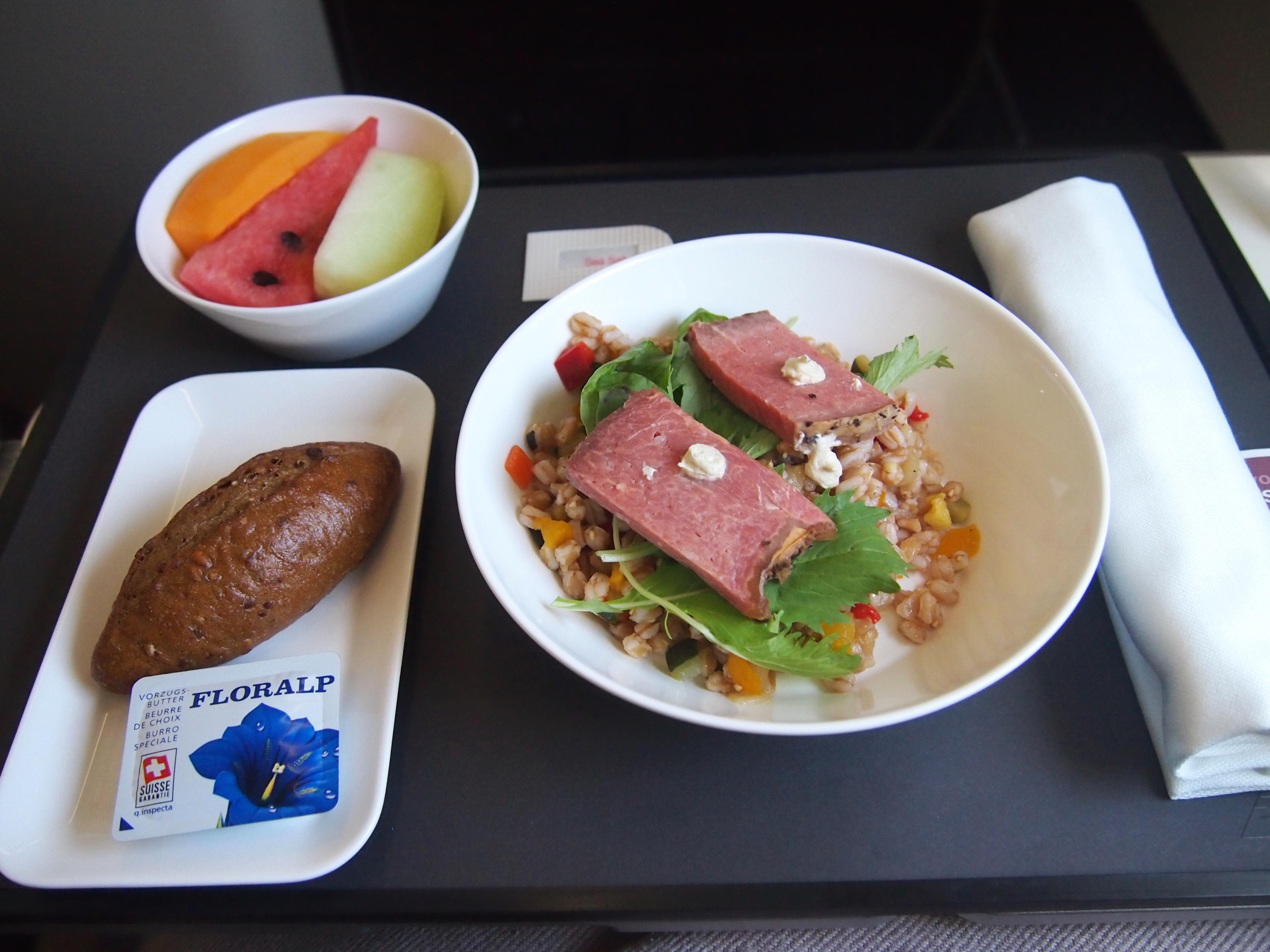 スイス航空-ビジネスクラス-機内食-朝食