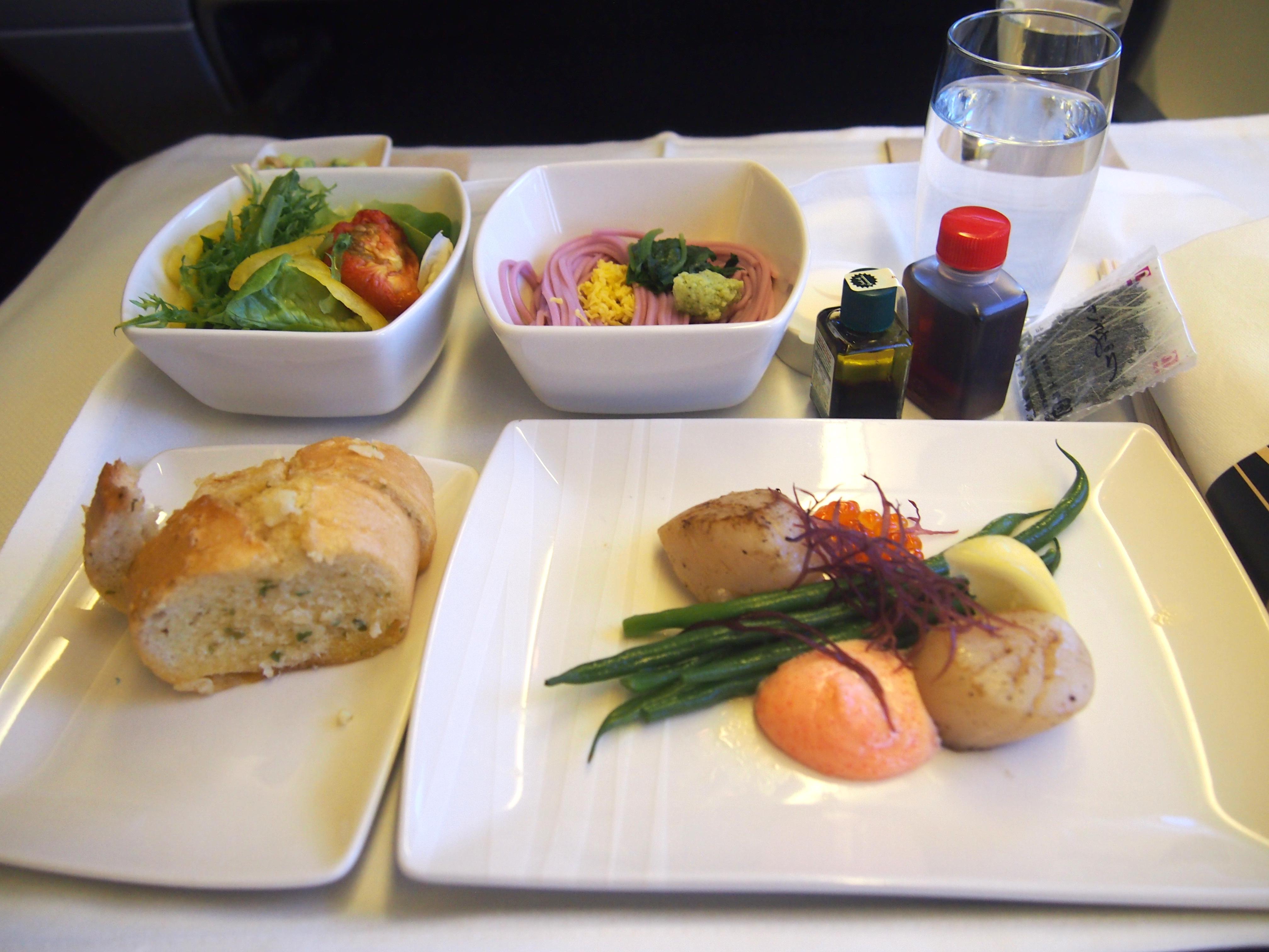 キャセイ-ビジネスクラス-機内食-前菜