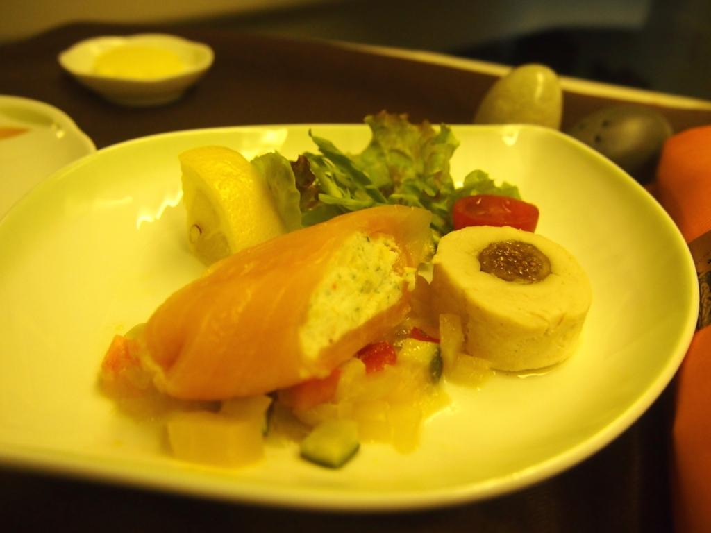 エバー航空-ビジネスクラス-機内食-前菜