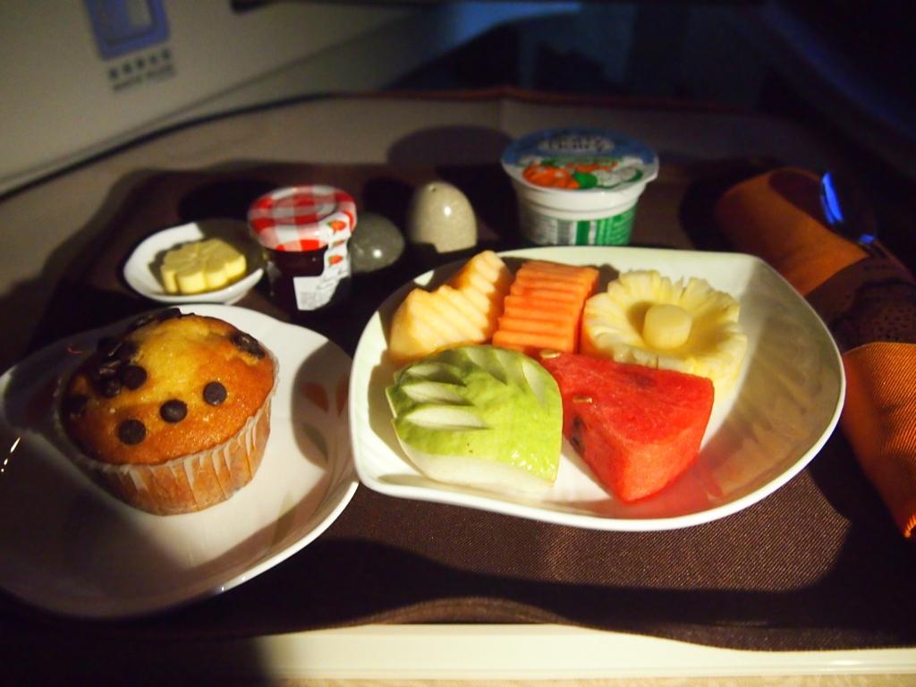 エバー航空-ビジネスクラス-機内食-朝食