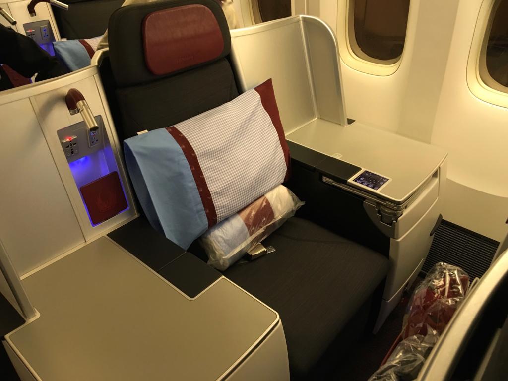 オーストリア航空-ビジネスクラス-シート
