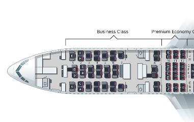 オーストリア航空-シートマップ-ビジネスクラス