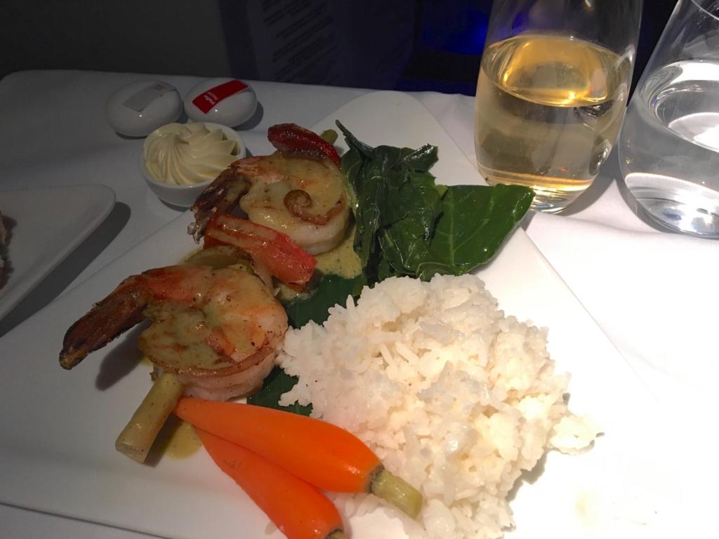 オーストリア航空-機内食-エビ