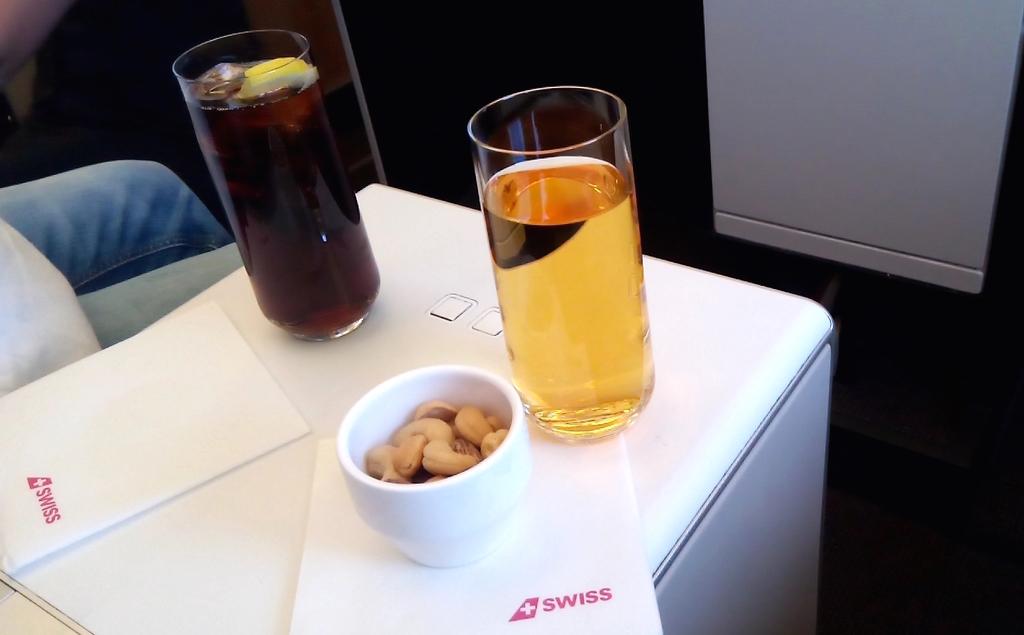 スイス航空-ビジネスクラス-ドリンク