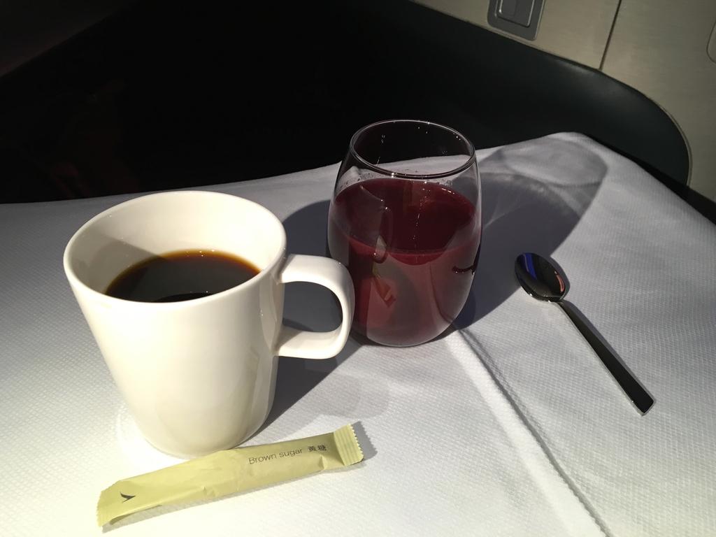 キャセイパシフィック-ビジネスクラス-機内食-スムージー