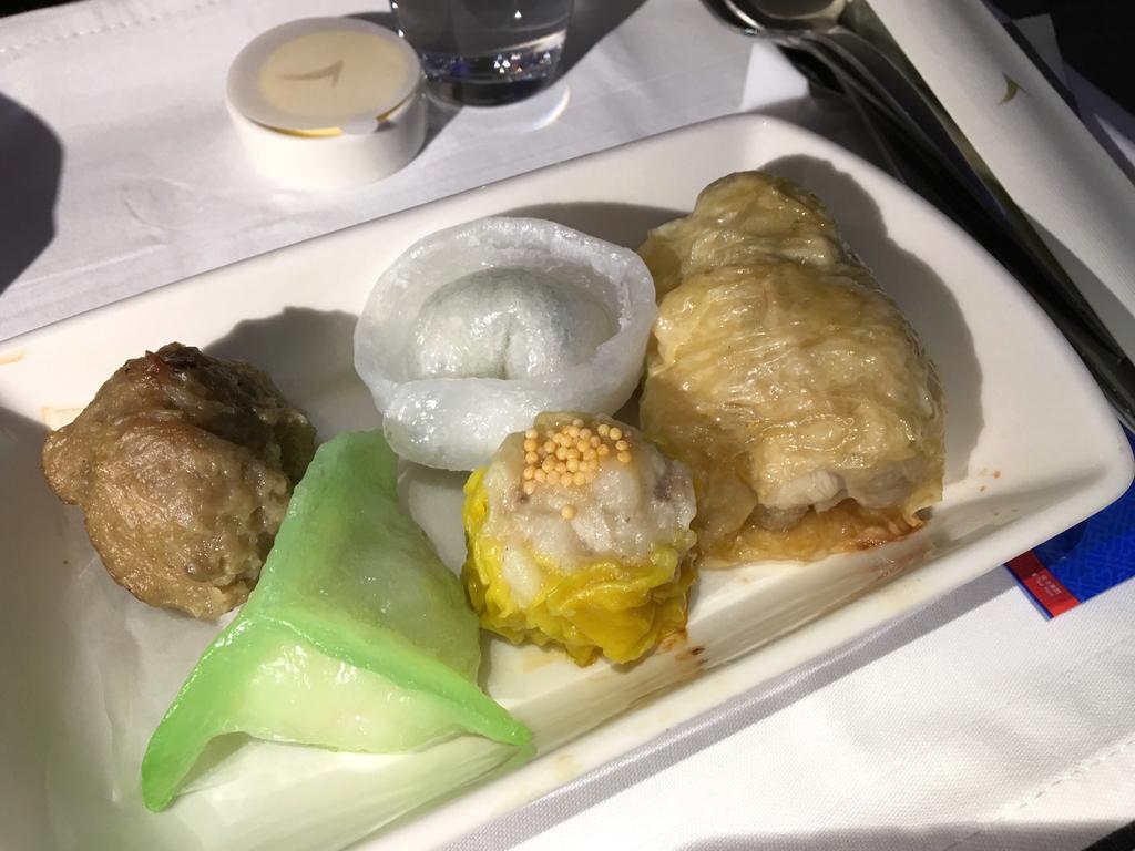 キャセイパシフィック-ビジネスクラス-機内食-機内食-飲茶