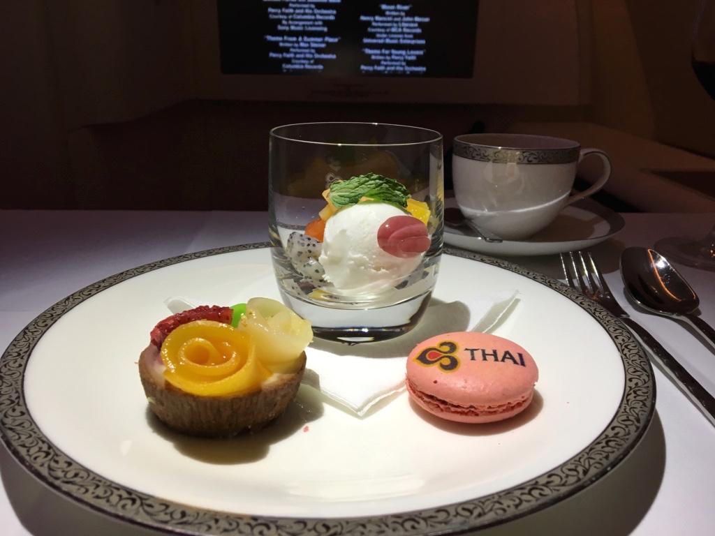 タイ国際航空-ファーストクラス-機内食-デザート