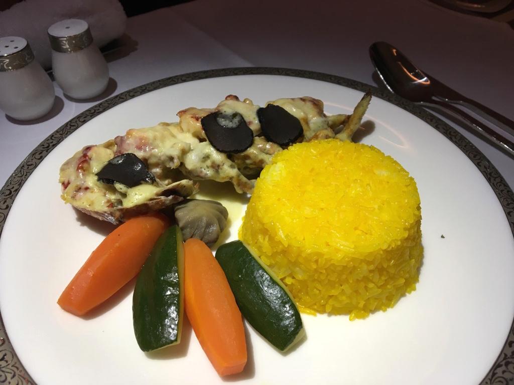 タイ国際航空-ファーストクラス-機内食