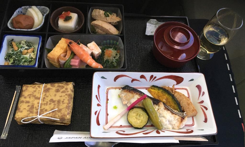 JAL-ビジネスクラス-機内食-和食
