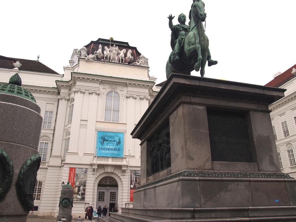 ウィーン-オーストリア国立図書館-入り口