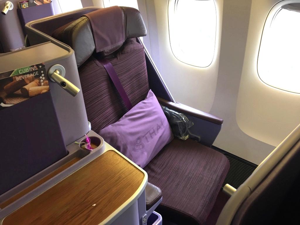 タイ国際航空-ビジネスクラス-シート