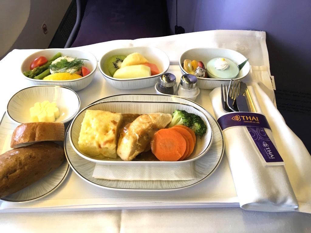 タイ国際航空-ビジネスクラス-機内食