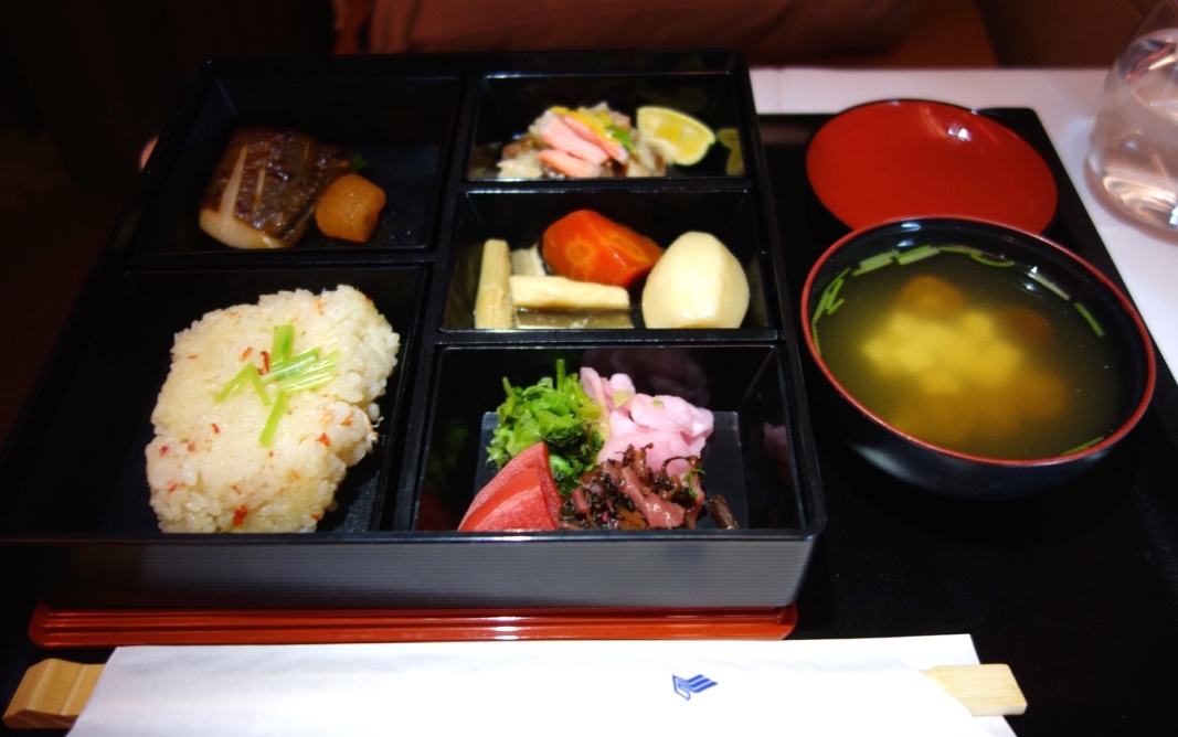 シンガポール航空-A380-ビジネスクラス-機内食-和食