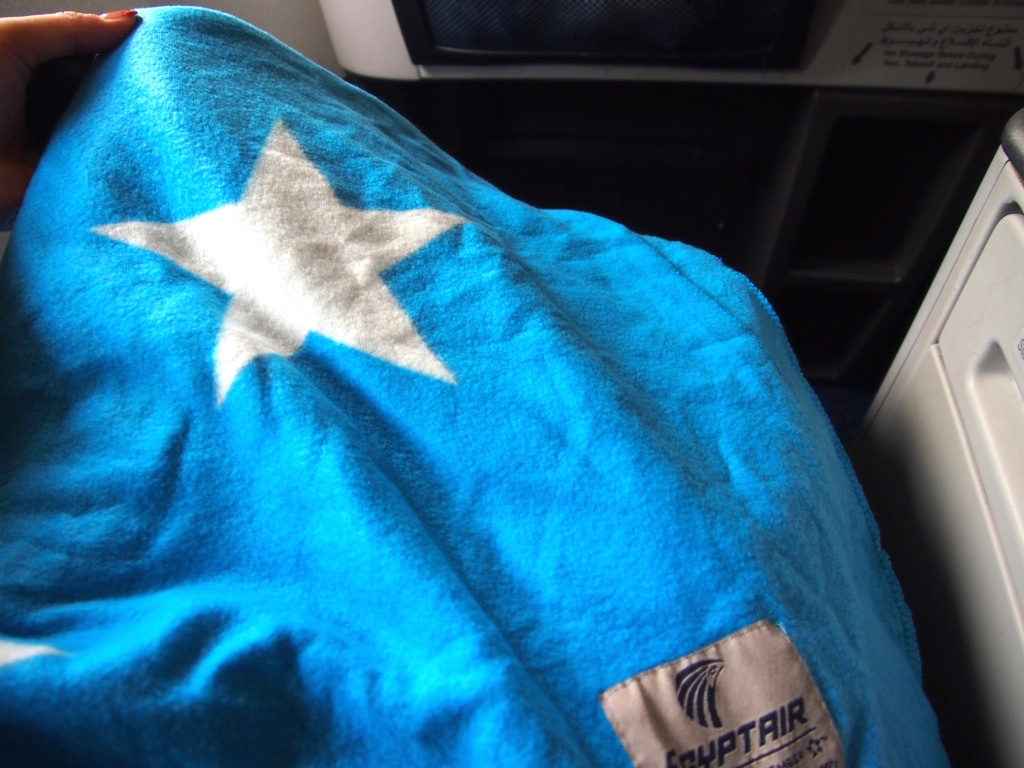 エジプト航空-ビジネスクラス-ブランケット