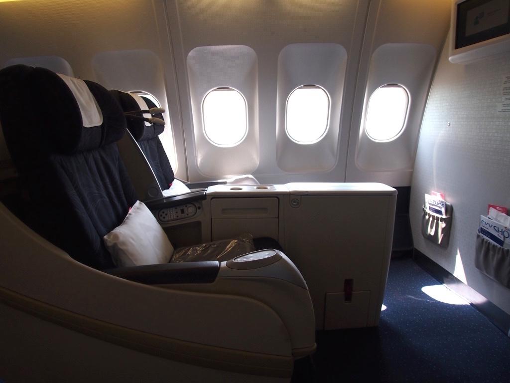 チェコ航空-ビジネスクラス-シート
