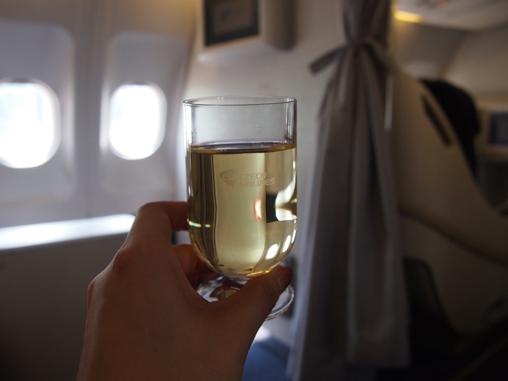 チェコ航空-ウェルカムドリンク