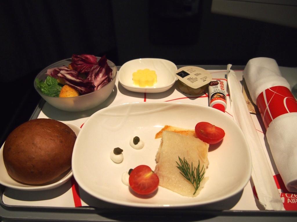 チェコ航空-ビジネスクラス-機内食-スターター