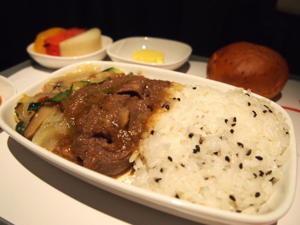 チェコ航空-ビジネスクラス-機内食