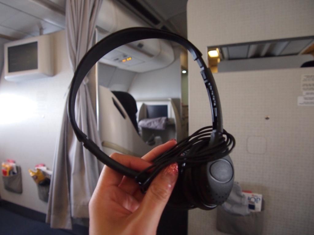 チェコ航空-ビジネスクラス-ヘッドフォン