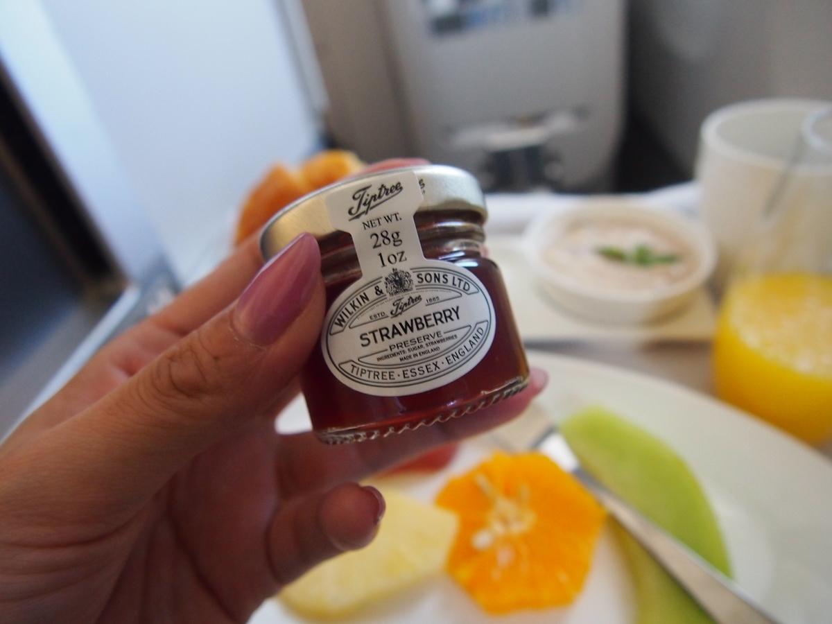 ブリティッシュエアウェイズ- 機内食-ビジネスクラス