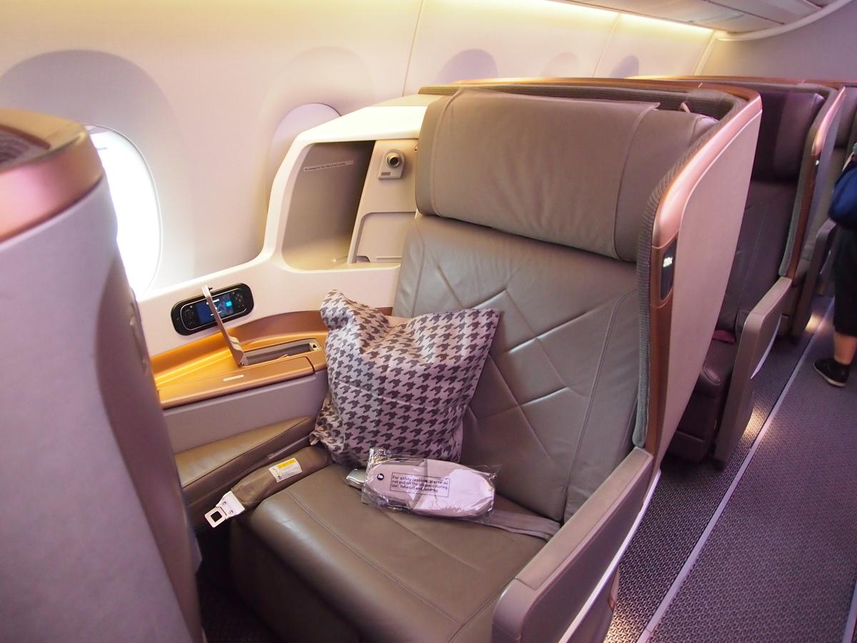 シンガポール航空_A350_ビジネスクラスシート