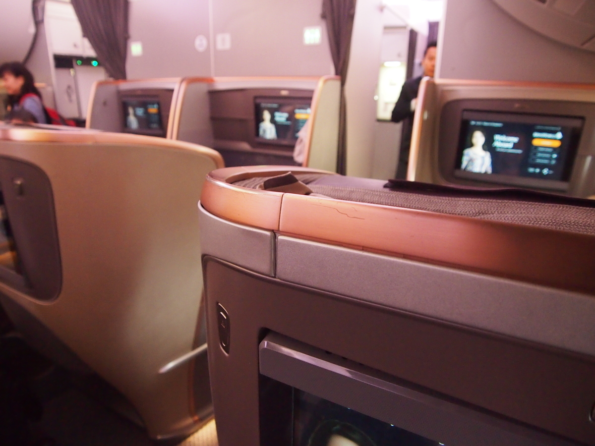 シンガポール航空_A350_シート