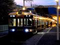 [風景][鉄道][阪急]夕暮れの嵐山駅