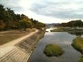 北山橋より賀茂川は半木の道 (植物園)