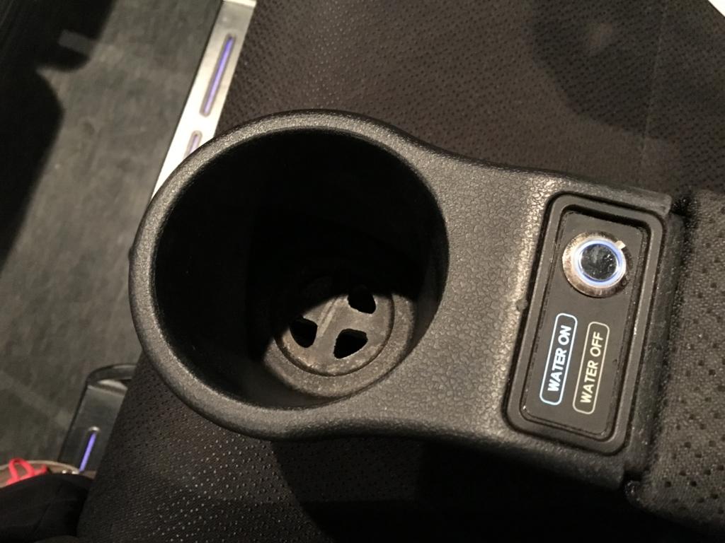 ユナイテッドシネマ 4DX 水しぶき停止ボタン