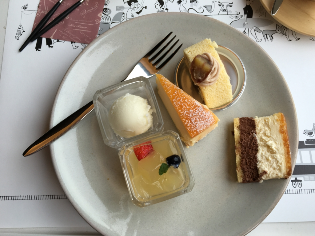 東北エモーション デザートビュフェ 選んだケーキ