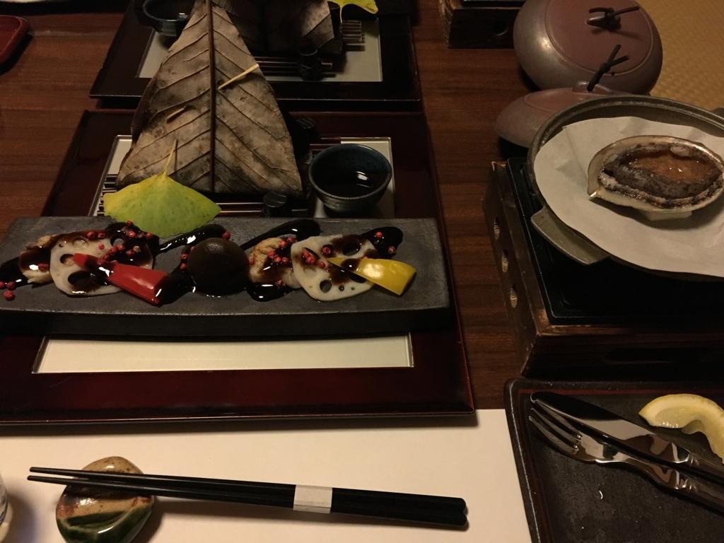 紀伊乃国屋 別亭 前菜と鮑