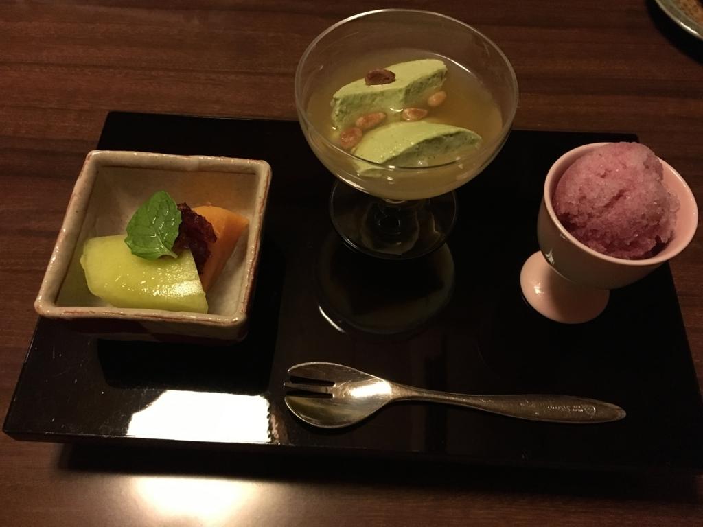 紀伊乃国屋 別亭 夕食デザート
