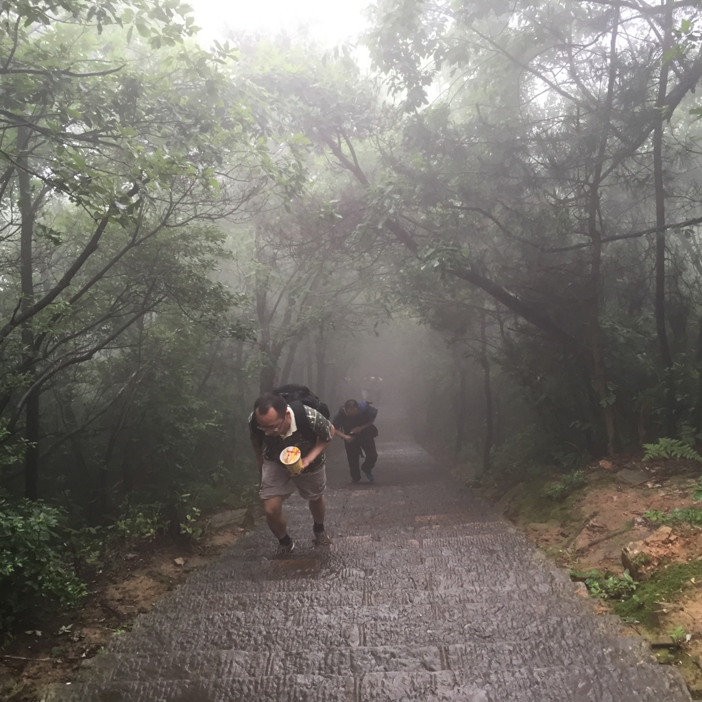 張家界 天子山自然保護区 延々と続く階段