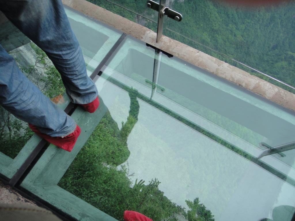 張家界 天門山 ガラスの桟道体験
