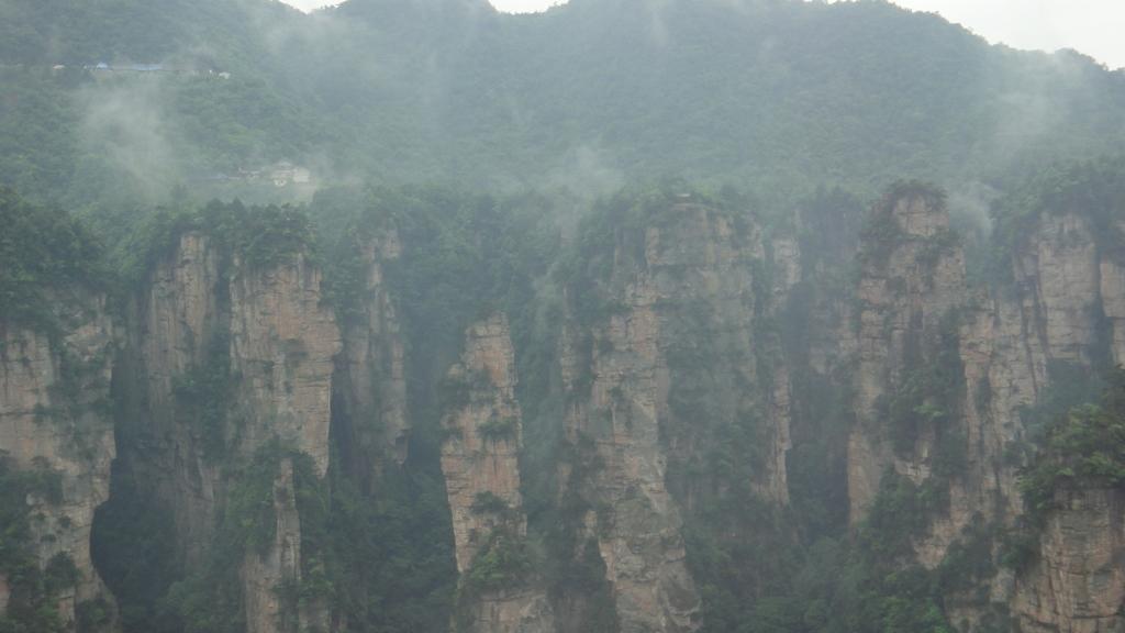 張家界 百龍エレベーター からの風景