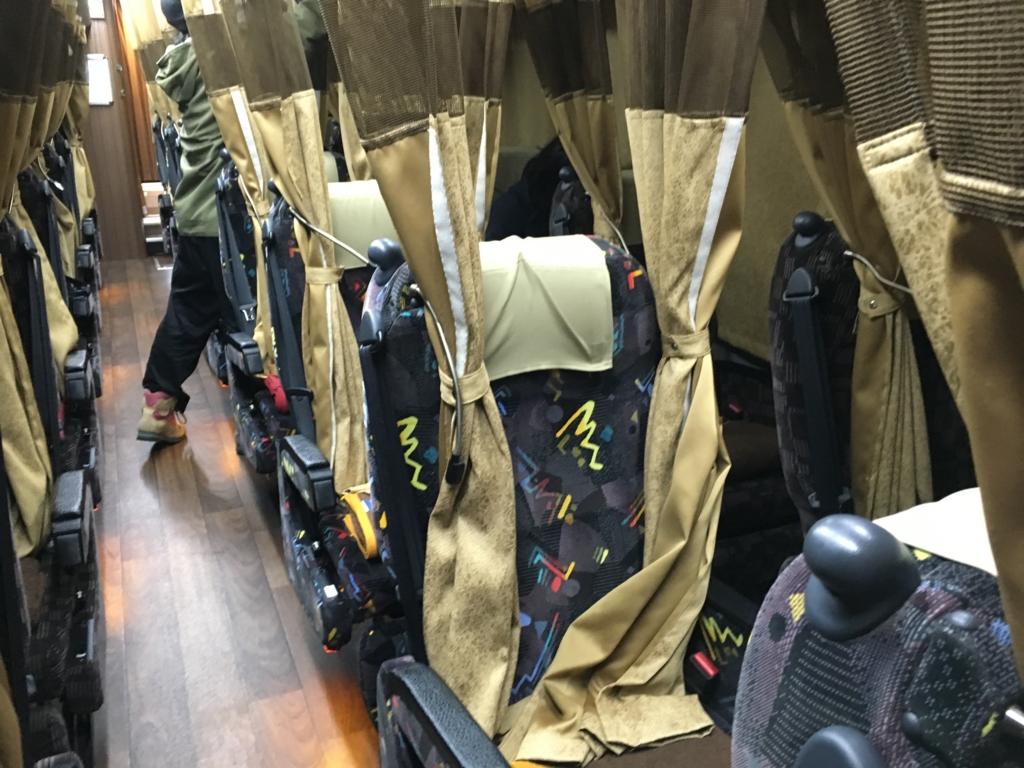 株式会社中国バス メープルハーバー 車内